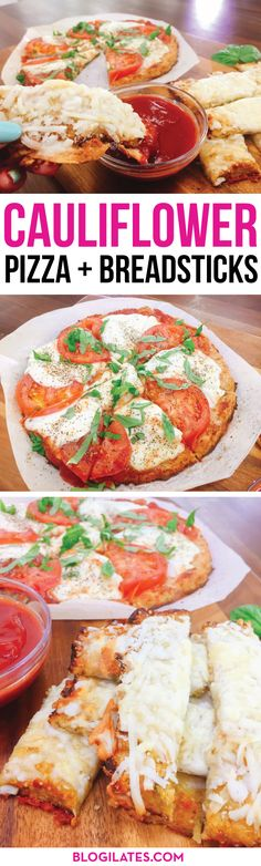 """This isn't just the best homemade cauliflower pizza recipe...it is THE BEST PIZZA I've ever had!! Ooey gooey cheesy and the crust does not taste """"healthy"""" or cardboardy at all. IT TASTES LIKE BREAD! This is so crazy."""