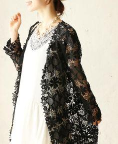 【楽天市場】【再入荷♪9月3日19時より】(ブラック)「french」美しいレースの羽織りカーディガン:cawaii