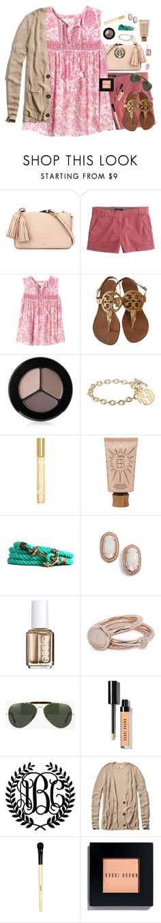 """""""Anyone Want to Talk About Boys?"""" by southernstylish ❤ liked on Polyvore featuring Tory Burch, J.Crew, Rebecca Taylor, Smashbox, Alison & Ivy, Marc Jacobs, tarte, Kiel James Patrick, Kendra Scott and Essie"""