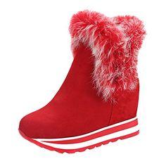 ENMAYERレッド女性のための新しいファッションスタイルの冬のアンクルブーツは、女性のための毛皮のウェッジスの高... https://www.amazon.co.jp/dp/B01N0D23F3/ref=cm_sw_r_pi_dp_x_GcMpyb4Y07VD3