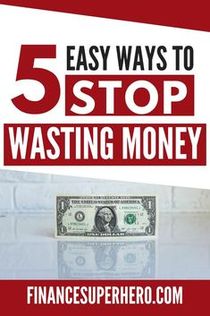 Need some money saving ideas? These 5 money wasters are easy ways to save money and keep more of your hard-earned cash in your wallet where it belongs. Ways To Save Money, Money Tips, Money Saving Tips, Money Saving Challenge, Financial Tips, Frugal Tips, Budgeting Tips, Saving Ideas, Hard Earned