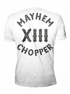 Mayhem Chopper XIII W/S - MEN OF MAYHEM - #menofmayhem #shirt #chopper #white #black #badass #mayhem #clothing #bikes #13 #selfjustice #tattoo #harley #girl #fashion #tattoo #Look #Fitness #Model #ink #crew #True #urban #street #gang #fight #mc #crime #oldschool #guns #menofmayhem13 #mma #fighter #bike #cage #motorcylcle #apparel #chopper #onlinestore