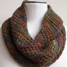 """XXX When my Mum was visiting I kept asking what I could knit her and every time she replied: a cowl made with Malabrigo sock yarn and """"that nice stitch"""" - the one I used for g'day boomerang."""