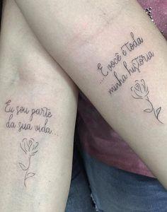 As 120 melhores Tatuagens Escritas para você se inspirar!   TopTatuagens P Tattoo, Thai Tattoo, Delicate Tattoo, Dainty Tattoos, Girl Tattoos, Tatoos, Matching Tats, Henna Tattoo Designs Arm, Couple Tattoos Love