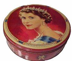 1953 Coronation biscuit tin