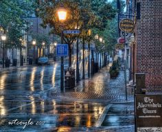 Morning rain in Old Town Alexandria, Virginia Arlington Virginia, West Virginia, Northern Virginia, Alexandria Virginia, Old Town Alexandria, Virginie Usa, Yandex, Virginia Is For Lovers, Small Towns