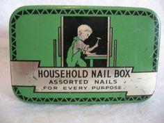 Green Advertising Nail Tin          ****