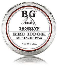 Smallflower Red Hook Mustache Wax by Brooklyn Grooming (2oz Wax)