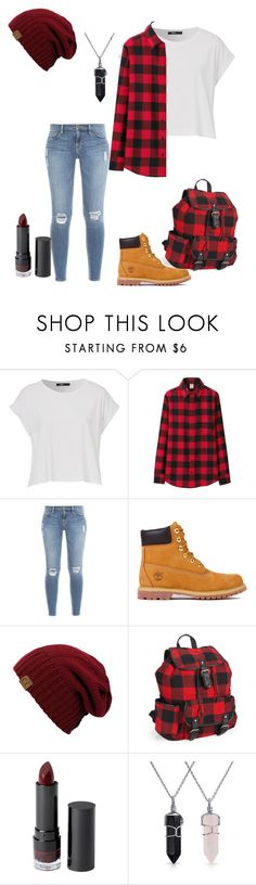 """""""Flannel"""" by poppunkchick ❤ liked on Polyvore featuring Uniqlo, Frame, Timberland, Aéropostale, Monki and Bling Jewelry"""