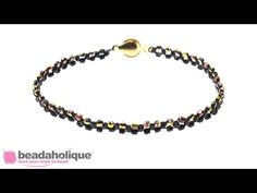 How to Right Angle Weave the La Siene Bracelet - YouTube
