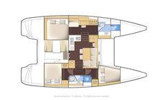 Lagoon 39   3 cabin version