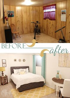 How to paint wood paneling. Make a dated room look chic instantly! - So glad there was very little wood paneling. We wouldnt have bought the house if it was this bad Wood Paneling Makeover, Painting Wood Paneling, Basement Makeover, Paneling Ideas, Painted Wall Paneling, Wood Paneling Walls, Painting Wood White, Cover Wood Paneling, Paneled Walls