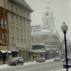 downtown Indiana, Pennsylvania in the Winter
