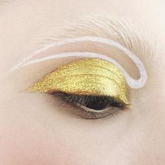 Gold glitter + white