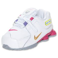 Your little one will go crazy for the high-tech look and feel of the Nike  Shox NZ Toddler Running Shoes. Perfect for kids of all ages, these running  shoes ...