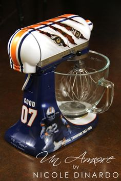 War Eagle Inspired Custom KitchenAid Mixer. Football mixer.