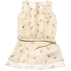 Chloe Junior Girls Feather Print Dress With Belt