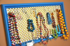 Upcycled Jewelry Display Frame