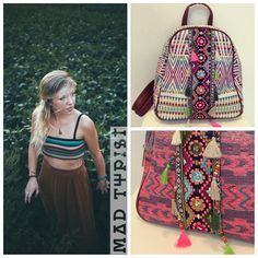 Must-have tego lata, mały plecak. U nas w wersji etno.❤️ This summer's must-have small backpack. Ours come with an ethnic flavor.❤️ #summer #backpack #krakow #styles #boho #streetfashion #boutique #musthave #vacation