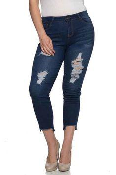 G-Gossip > Plus Size Skinny Jeans > #ED-16361X − LAShowroom.com