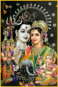Trimurti - Shiva, Brahma & Vishnu India Vintage Calender Prints: Circa: Artist: L. Shiva Art, Shiva Shakti, Krishna Art, Hindu Art, Lord Krishna, Ganesha Art, Shree Krishna, Lord Ganesha, Indian Gods