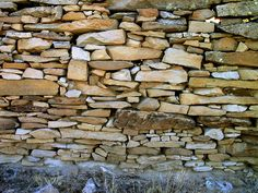 Dry-Stacked Stone Wall by Madrid Miner
