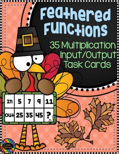 This set of 35 task cards includes practice working with input-output tables. Task cards are all subtraction within A set of black and white task cards is included. An answer key is provided.Graphics and fonts copyright Dianne J. Math Activities, Teacher Resources, Third Grade Math, Fourth Grade, Second Grade, Math Centers, Math Stations, Elementary Math, Multiplication