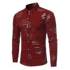 Clothing Type: Floral Shirts Shirts Type: Casual Shirts Style: Casual Pattern Type: Floral Collar: Turn-down Collar Material: Cotton, Polyester Closure Type: Single Breasted Size Cross Shoulder(cm) Chest Width(cm) Body Length(cm) Sleeve Length(cm) S 44 102 70 63 M 45.5 108 72 64 L 47 112 74 65 XL 49 122 76 67