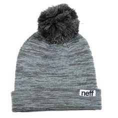 899f47cda03 Neff Women s Heather Pom Beanie Beanies