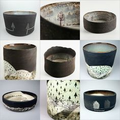 JULIA SMITH CERAMICS Illustrative hand built and printed pots inspired by wild Scottish landscapes. www.juliasmithceramics.com ...