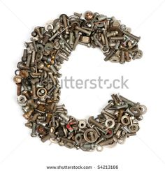 stock photo : alphabet made of bolts - The letter c
