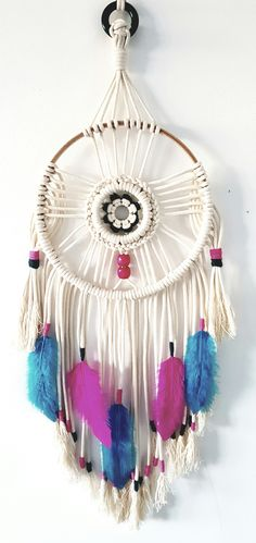 Boho Dreamcatcher. Macrame Dream Catcher. Large Dreamcatcher. by Knit Knot Space on Etsy. Perfect Christmas gift. Bohemian style wall hanging. Boho home decor