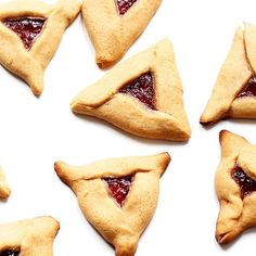 Peanut Butter And Jelly Hamentashen. Get this and 50+ more Cookies recipes at https://feedfeed.info/cookies
