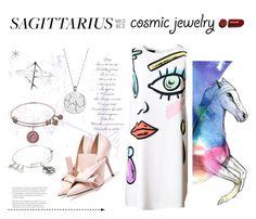 """#cosmicjewelry"" by zazaya96 on Polyvore featuring moda, Imagination Illustrated, Moschino, Rock 'N Rose, Chupi e Alex and Ani"