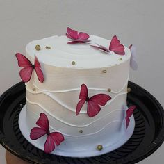 19th Birthday Cakes, Butterfly Birthday Cakes, 13 Birthday Cake, Beautiful Birthday Cakes, Birthday Cakes For Women, Butterfly Cakes, Beautiful Cakes, Amazing Cakes, Pretty Cakes