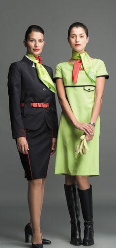 Air Hostesses - Page 182 - Discussion Forums Work Uniforms, Girls Uniforms, Airline Cabin Crew, Airline Uniforms, School Dresses, Flight Attendant, Work Wear, Glamour, Portugal