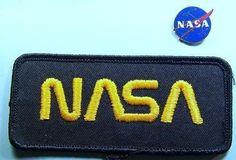 NASA Black Logo Patch & Blue NASA Pin