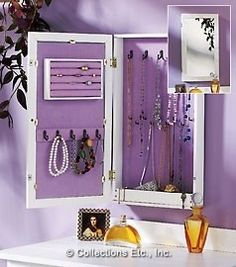 Taking a medicine cabinet and making a hanging jewelry box with a mirror- good idea