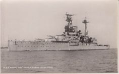Postcard of the battleship HMS Royal Oak From the WW II collection of C.E.R.A Albert Sayer, R.C.N.V.R. Courtesy of Karen Pelton