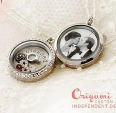 Flip your locket over and personalize with a photo of your special day! Contact me today to set up an appointment to design yours!  www.fairytalelockets.origamiowl.com email:  addietude14@msn.com