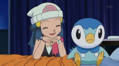 Dawn is really happy to be Piplup's trainer.
