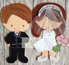 Listo de día de la boda: La novia y el novio por NettiesNeedlesToo