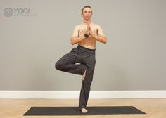 mens tree yoga pose