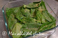 """Más allá del gluten...: """"Lasaña"""" de Papas y Verduras (Receta GFCFSF, Vegana) Spanish Food, Spinach, Tacos, Gluten Free, Vegetables, Recipes, Natural, Vegetarian Recipes, Easy Food Recipes"""