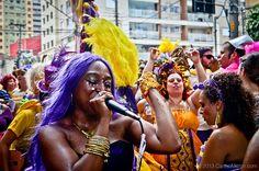 """Carnaval 2013 - Bloco """"Agora Vai"""" pelas ruas do bairro da Barra Funda, nas proximidades do Minhocão"""