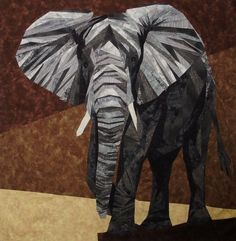 Norman the Enormous Elephant...over 570 pieces in this quilt!quilting board.com