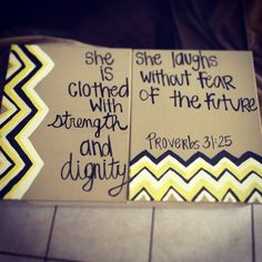 Bible verse canvas. i like the two canvases put together