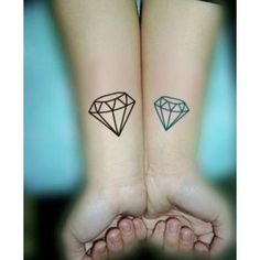 3D Diamonds Tattoo, but a ruby. On my ankle. Or foot. Totally DOING IT!! note to self I need this | tattoos picture diamond tattoo