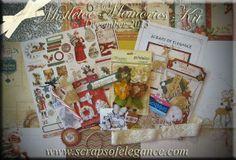 "Scraps of Elegance Artist Kits ~ December 2013 ""Mistletoe Memories"" kit.  www.scrapsofdarkness.com/ScrapsOfElegance"