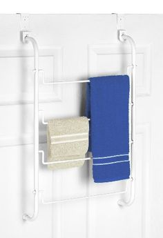 Whitmor Over The Door Towel  Drying Rack White >>> Click on the image for additional details. Note:It is Affiliate Link to Amazon.